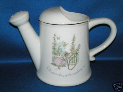 TINY TALK PORCELAIN WATERING CAN FILL YOUR DAY SUNSHINE
