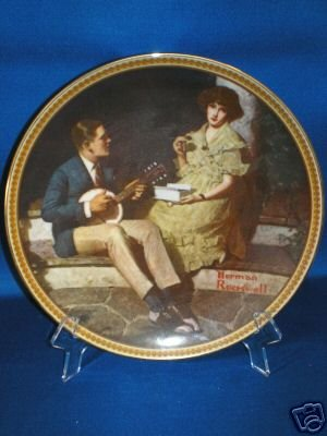 COLLECTOR PLATE NORMAN ROCKWELL PONDERING ON PORCH
