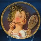 COLLECTOR PLATE NORMAN ROCKWELL MAKE BELIEVE AT MIRROR