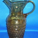 AMBER GLASS RETRO SHAPED WATER PITCHER