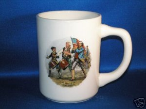 SPIRIT OF 1776~A.M. WILLARD COFFEE CUP AS SHOWN