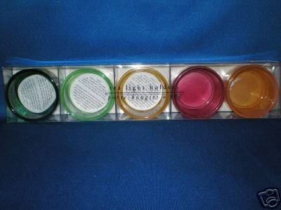 PIER 1 IMPORTS COLORFUL TEA LIGHT CANDLE HOLDERS NIB