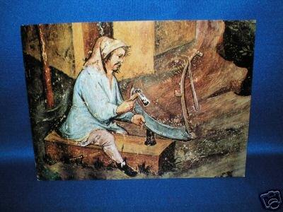 POST CARD~ITALY~TRENTO CONTADINO CHE RIPARA LA FALCE