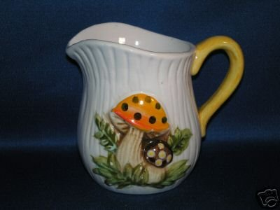 SMALL SINGLE MUSHROOM CREAMER PITCHER AS SHOWN