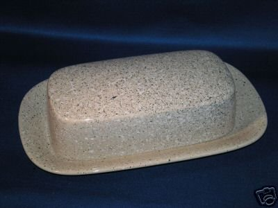COVERED BUTTER DISH~MIKASA ULTRASTONE