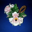 HAND CRAFTED FLOWER FLORAL TAPER CANDLE HOLDER