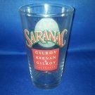 GLASSWARE AS SHOWN-SARANAC BEER GLASS UTICA NY