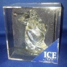 ICE ART ANGEL ON MIRROR BLOWING HORN GLASS