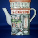 DECORATIVE TEA POT LE BISTRO