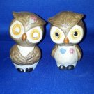 VINTAGE SALT AND PEPPER SHAKERS SET SMALL OWLS