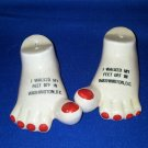 VINTAGE SALT AND PEPPER SHAKERS SET WASHINGTON DC FEET