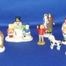 LOT OF CHRISTMAS VILLAGE CHARACTERS PEOPLE LEMAX