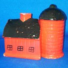 VINTAGE SALT AND PEPPER SHAKERS SET BARN SILO