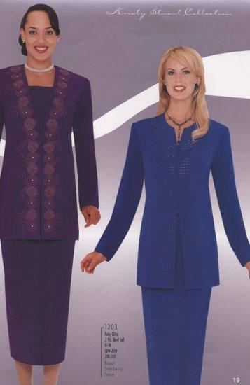 Woman's Size 26 Purple Kristy Stuart Suit Jacket