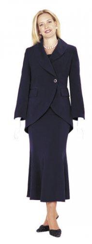 Sizes 12 or 14 GMI Suit #2876  Navy Blue