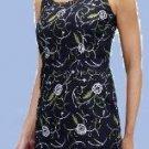 Size 4 Black Print Linen Dress