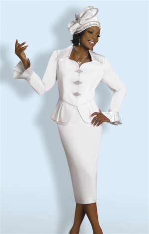 Pure White Lisa Rene Suit #3149