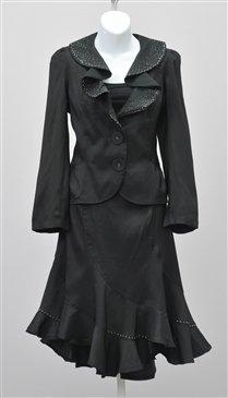 Woman Size L Black Rossi Roma Skirt Set #1013