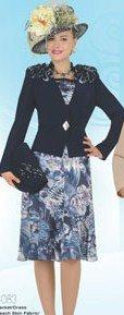 Woman's Elite Champagne Navy Jacket Dress