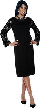 Woman's Black Church Dress Terrqmina 7348