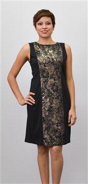 Woman's Iman Slinky Shimmering Sleeveless Sheath Dress