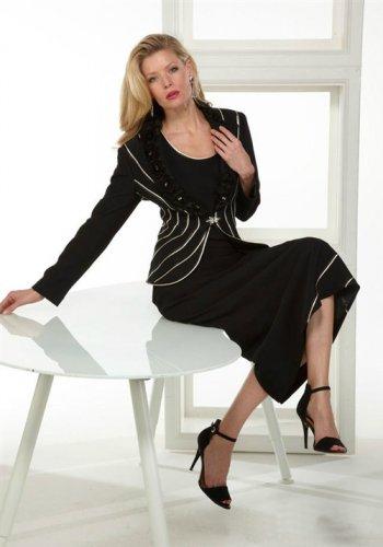Woman's Tiffany Black 3 PC Suit #351893