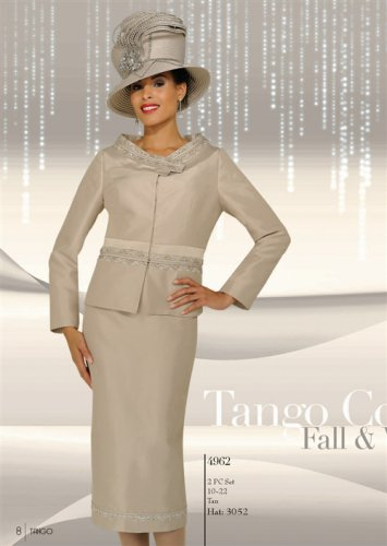 Woman's  Embroidered RIbbon Trim 2pc Suit