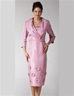 Woman's Size 4  Lily & Taylor #9083 Flower Applique Border Dress
