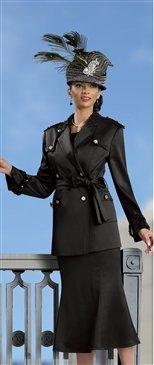 Donna Vinci 11161 Sequin Embelllished Epaulet Safari Style 2pc Suit