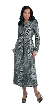 Size 26 Woman's  Odeliah Denim 8163 Animal Print Trench Coat 3pc Denim Suit