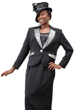 Black Size 8 Ben Marc 3PC  Woman's Suit