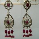 sz 5 cz Indian designer Handmade twotone bangle bracelet jewelery