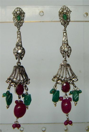 sz 5 cz Indian traditional Bugget twotone bangle bracelet jewelery