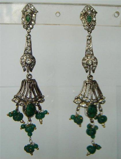 sz 4.5 cz traditional India Handmade twotone bangle bracelet jewelery