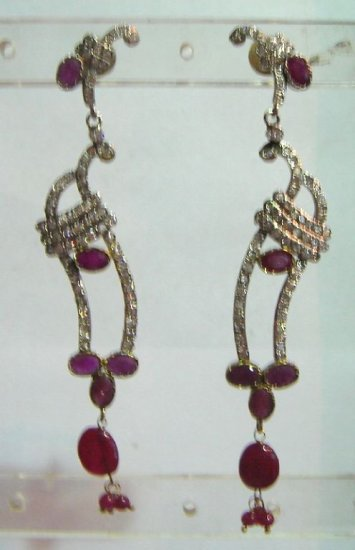 sz 5 cz traditional India Handmade twotone bangle bracelet jewelery