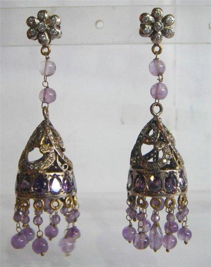 sz 4.5 cz Indian Handmade twotone bangle bracelet jewelery openable