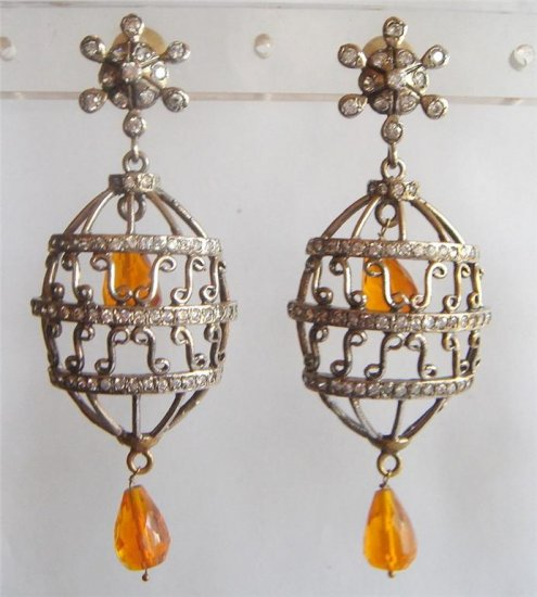 sz 5 cz multicolour Handmade twotone bangle bracelet jewelery