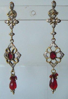 peridot green matching antique style cz dangler earing jewelery
