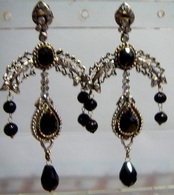 natural ruby antique style cz dangler earing jewelery
