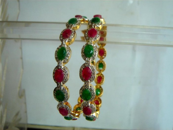 d green matching antique style cz dangler earing jewelery