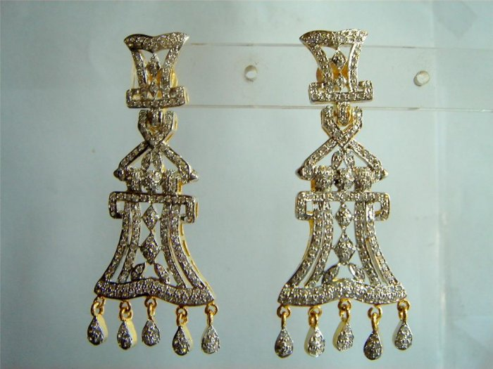black matching antique style chandelier dangler earing jewelery