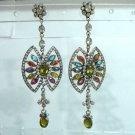 maroon matching antique style cz dangler earing jewelery