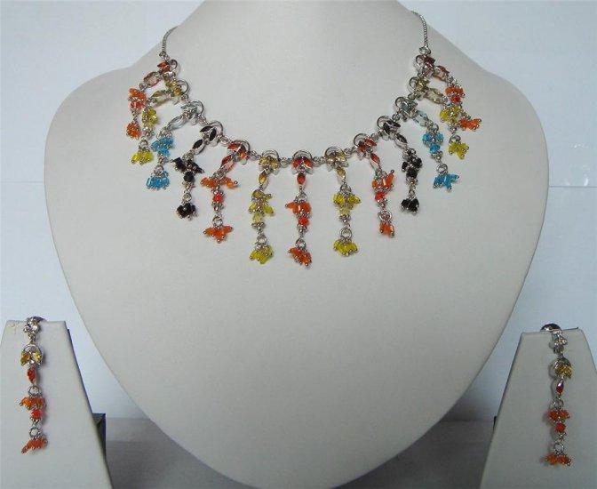 cz maroon matching antique style dangler earing jewelery