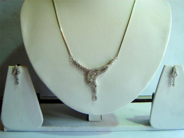 orange matching twotone cz handmade necklace jewelery