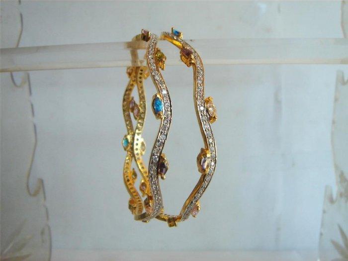 multicolour simulated diamond cz necklace earing jewele