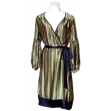 BCBG MaxAzria Dandy Stripe Dress in Patina