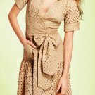 Bellette Wrap Dress in Khaki