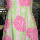 Lilly Pulitzer dress Pink Green shells 12