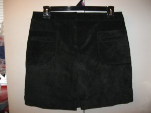 Lilly Pulitzer black pig suede skirt Size 10 P