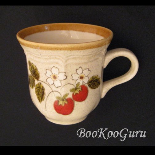 Mikasa STRAWBERRY FESTIVAL Cup & Saucer Set, Mikasa Pottery,Perfect Condition